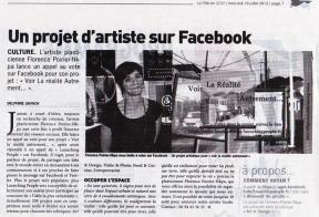 Street art project in local news